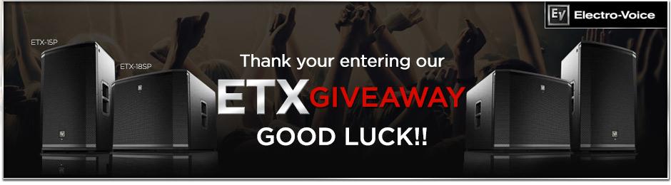 EV ETX Series Giveaway