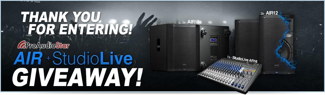 AIR+StudioLive Giveaway