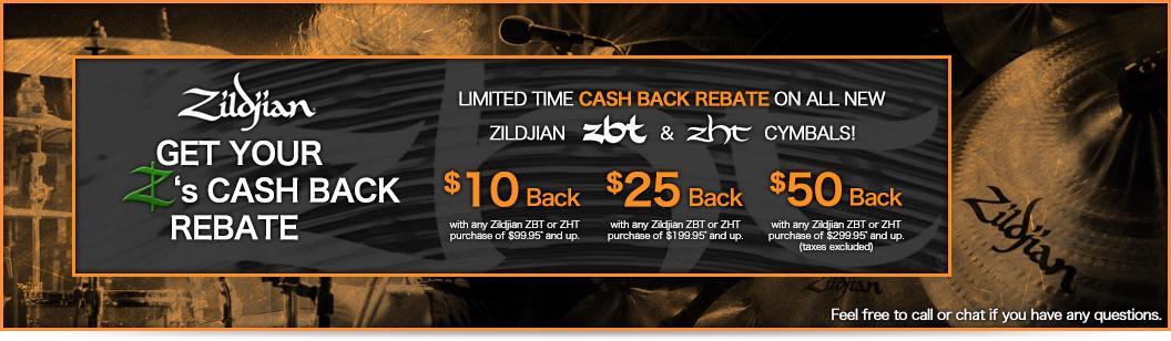 Zildjian Cymbals Rebate Specials