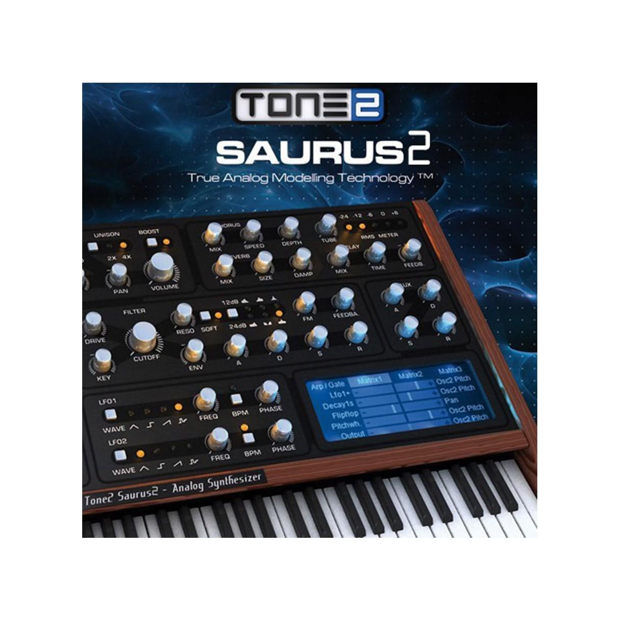 Tone 2 Saurus 2 Affordable Virtual analog synthesizer
