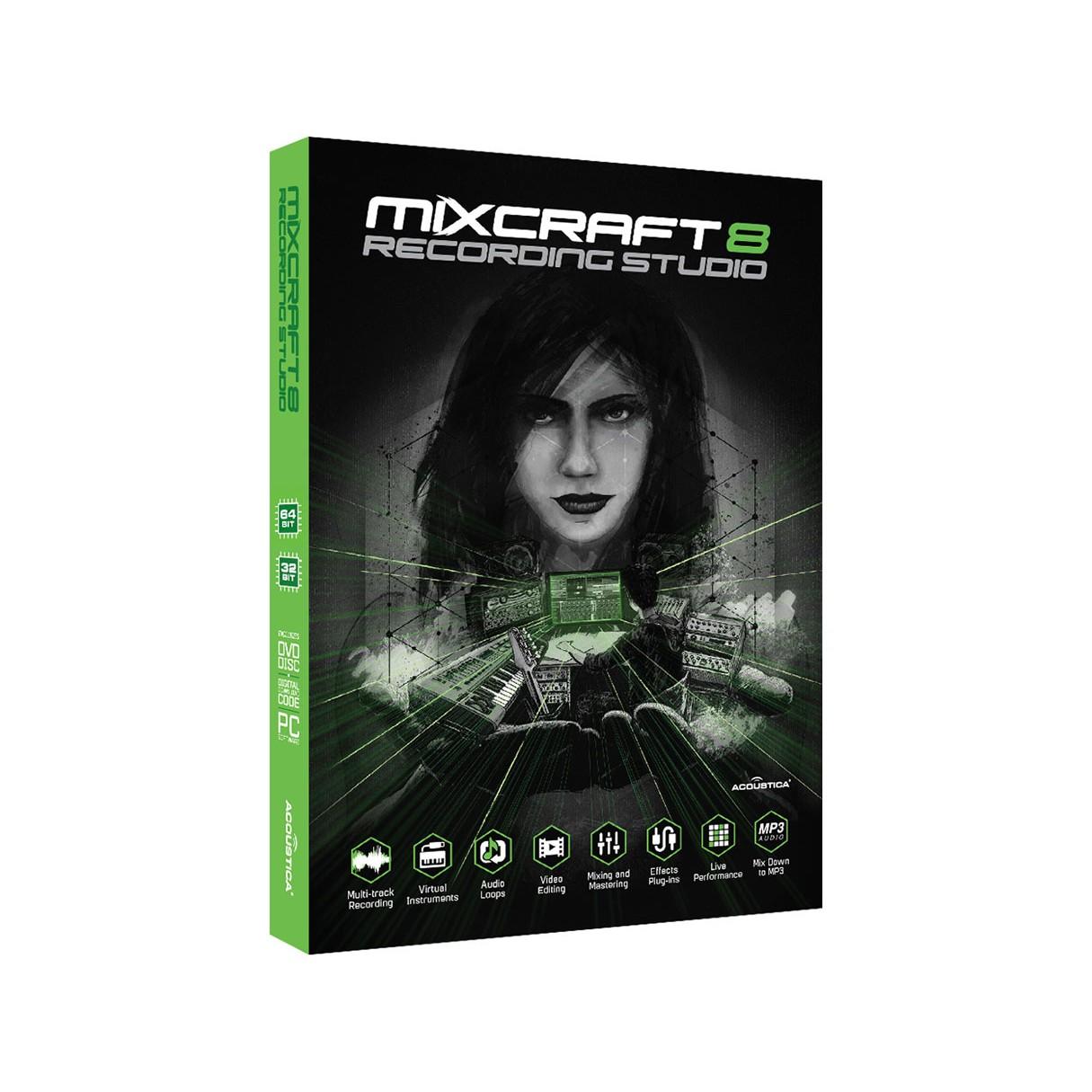 Acoustica Mixcraft 8 Record Studio Windows Music Production Software