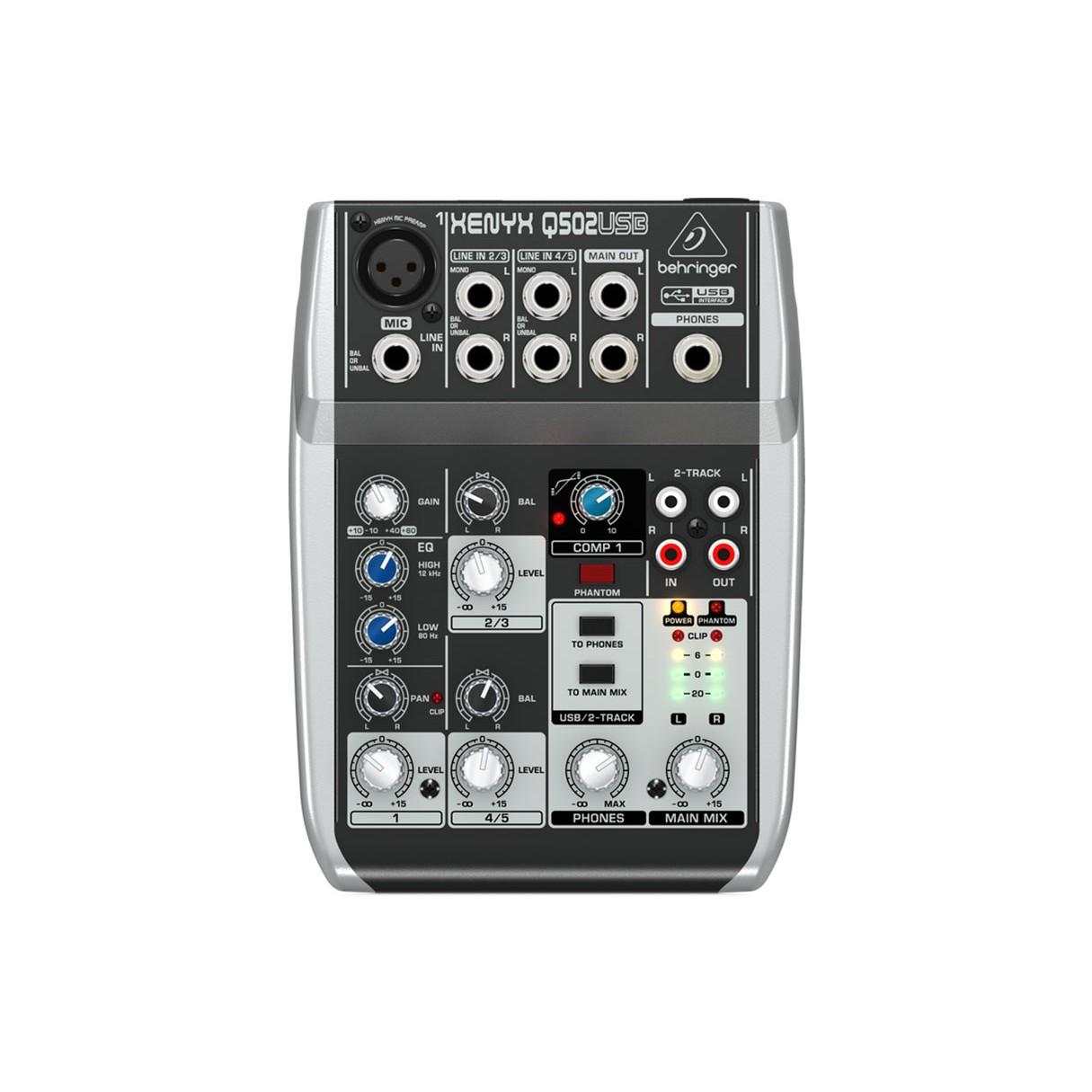 behringer q502usb 5 input 2 bus mixer xenyx eq. Black Bedroom Furniture Sets. Home Design Ideas