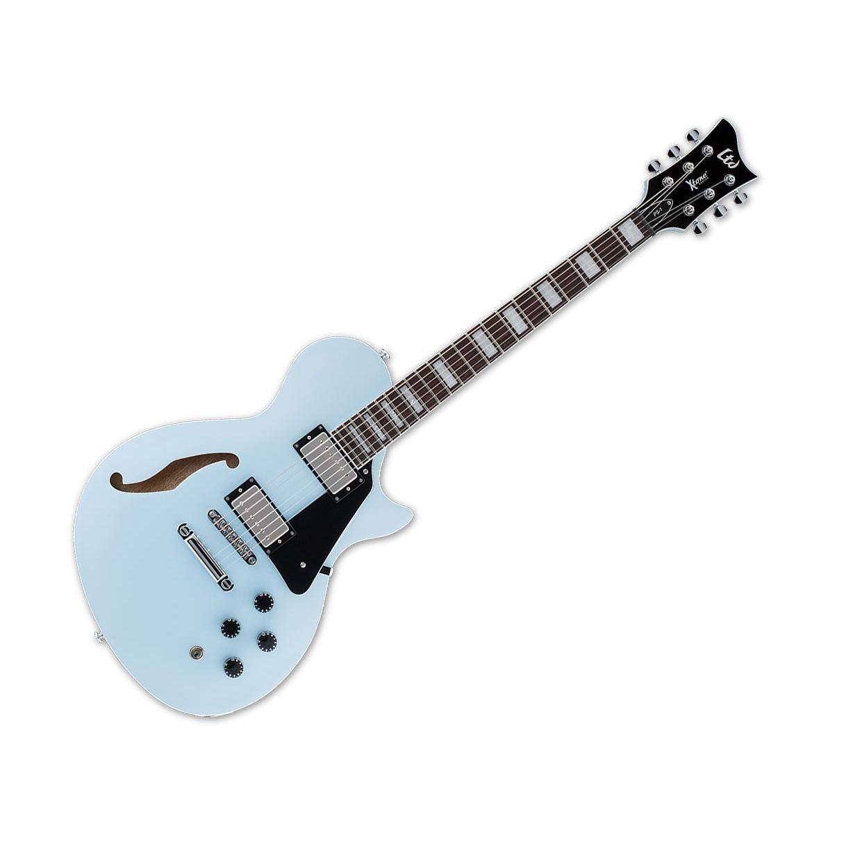esp ltd x tone ps 1 semi hollowbody electric guitar sonic blue. Black Bedroom Furniture Sets. Home Design Ideas