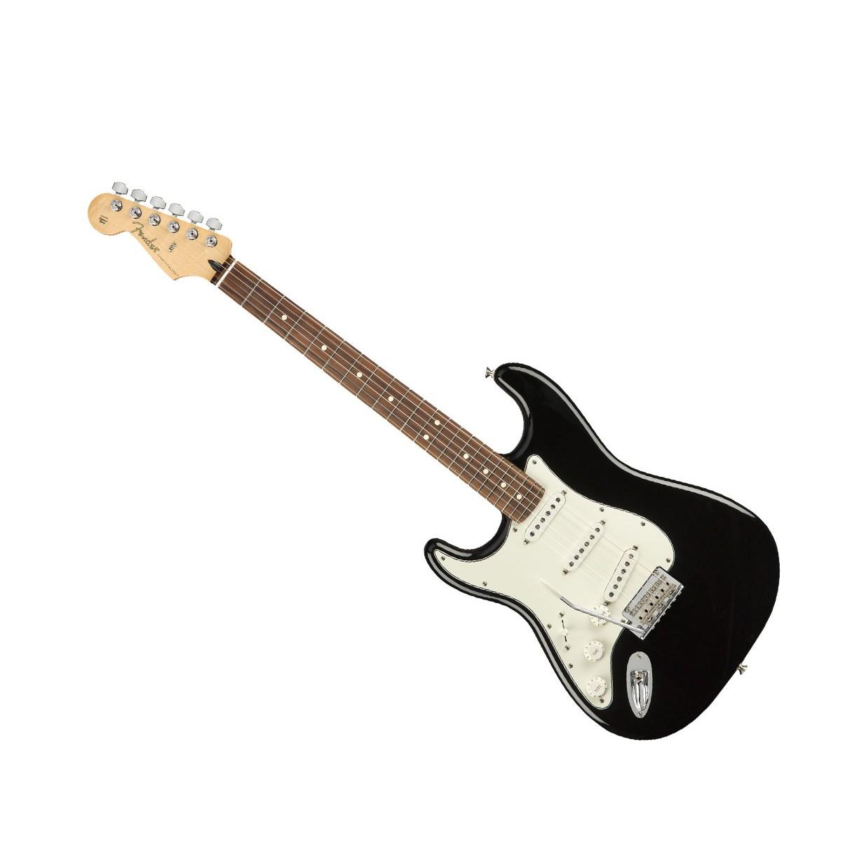 fender player stratocaster lh black w pau ferro fb fender g g dlx hard case. Black Bedroom Furniture Sets. Home Design Ideas