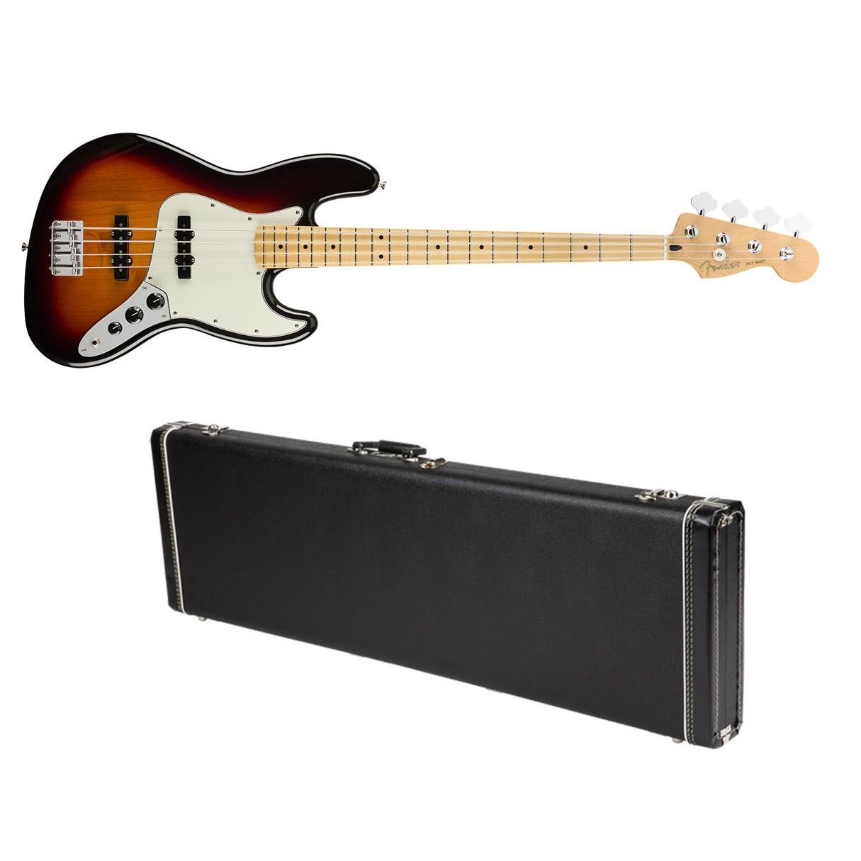 fender player jazz bass 3 color sb w maple fb fender g g dlx hard case. Black Bedroom Furniture Sets. Home Design Ideas
