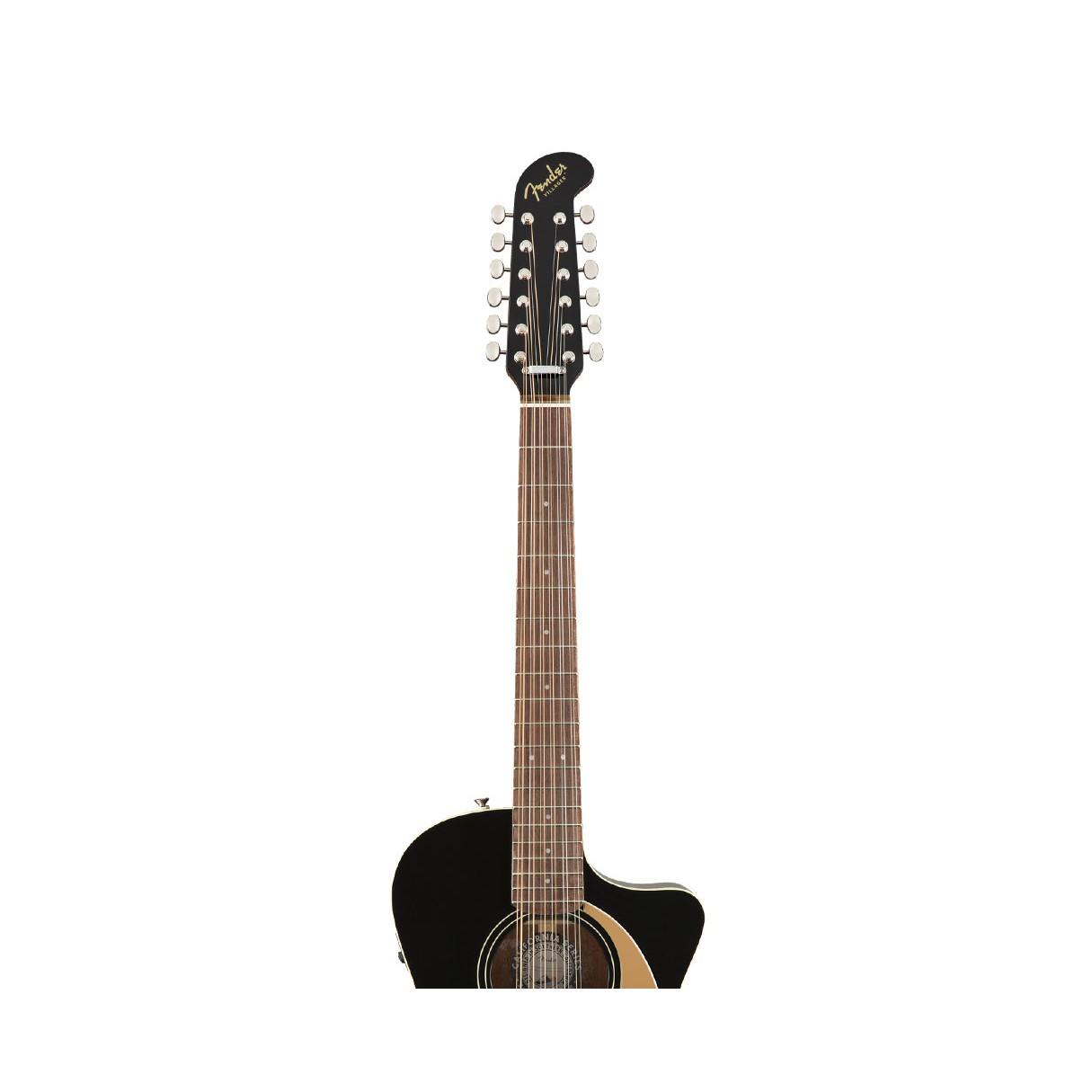 fender villager 12 string black w walnut fingerboard 12 string guitars acoustic guitars. Black Bedroom Furniture Sets. Home Design Ideas