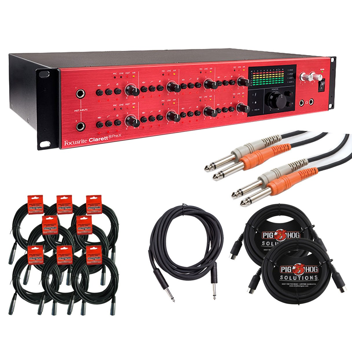 focusrite clarett 8prex thunderbolt audio interface cable kit. Black Bedroom Furniture Sets. Home Design Ideas