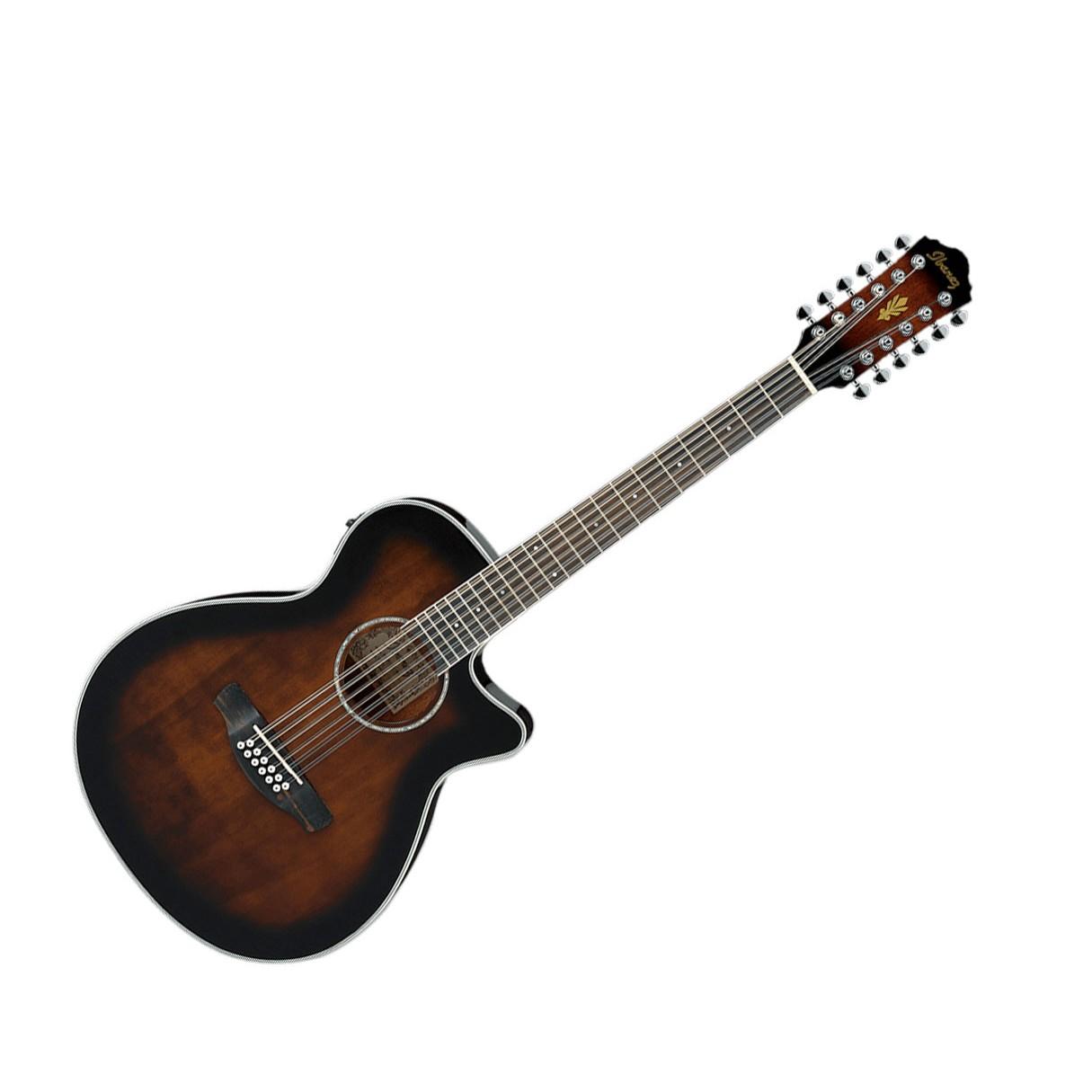 ibanez aeg1812ii dvs 12 string acoustic electric guitar dark violin sunburst. Black Bedroom Furniture Sets. Home Design Ideas