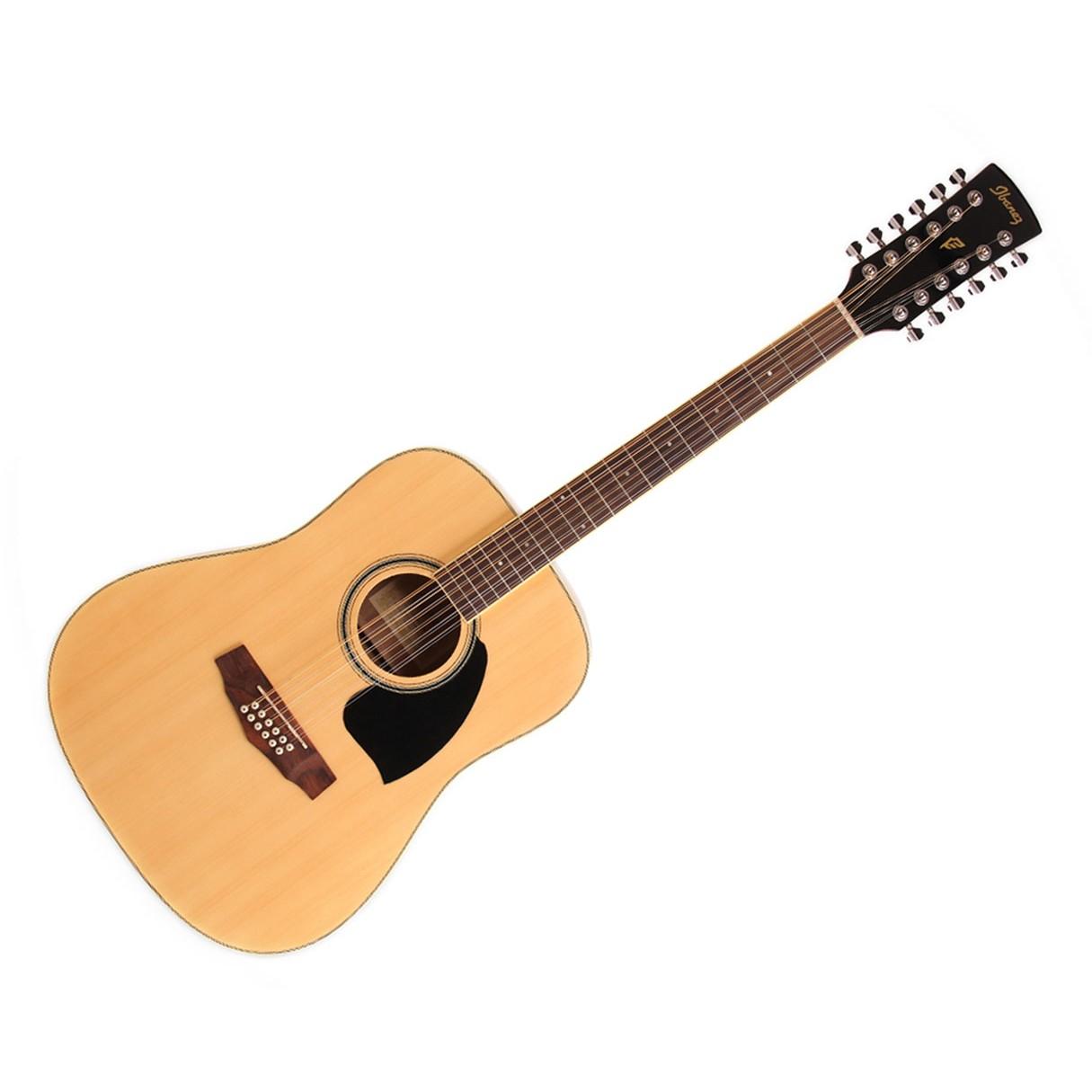 ibanez pf1512 dreadnought acoustic guitar 12 string natural. Black Bedroom Furniture Sets. Home Design Ideas