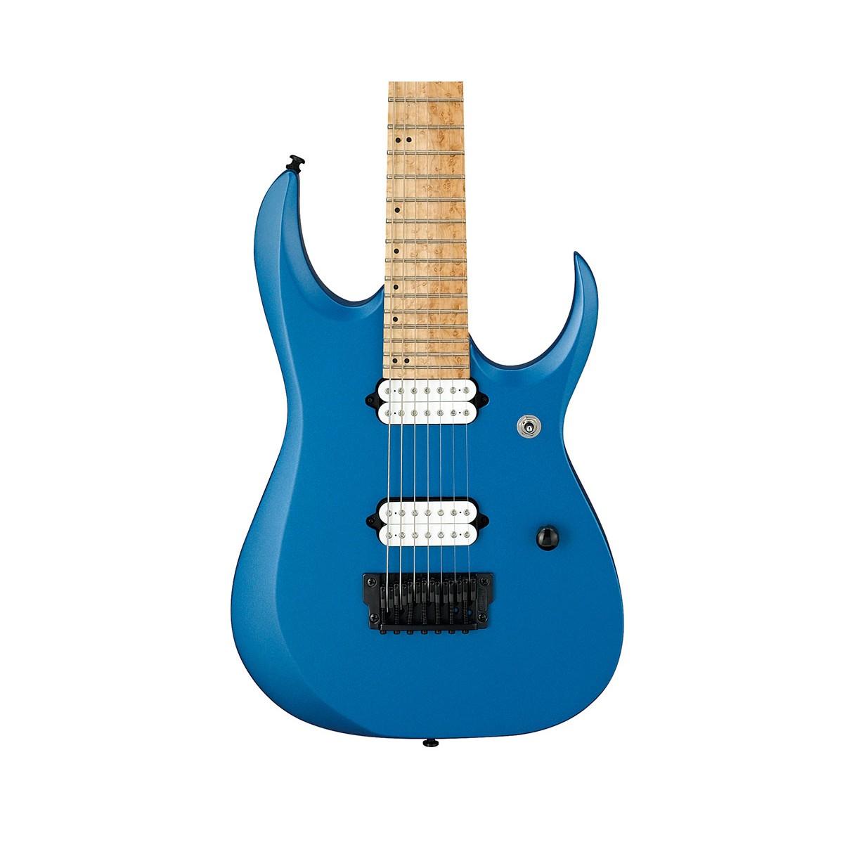 ibanez rgd iron label 7 string electric guitar laser blue matte. Black Bedroom Furniture Sets. Home Design Ideas