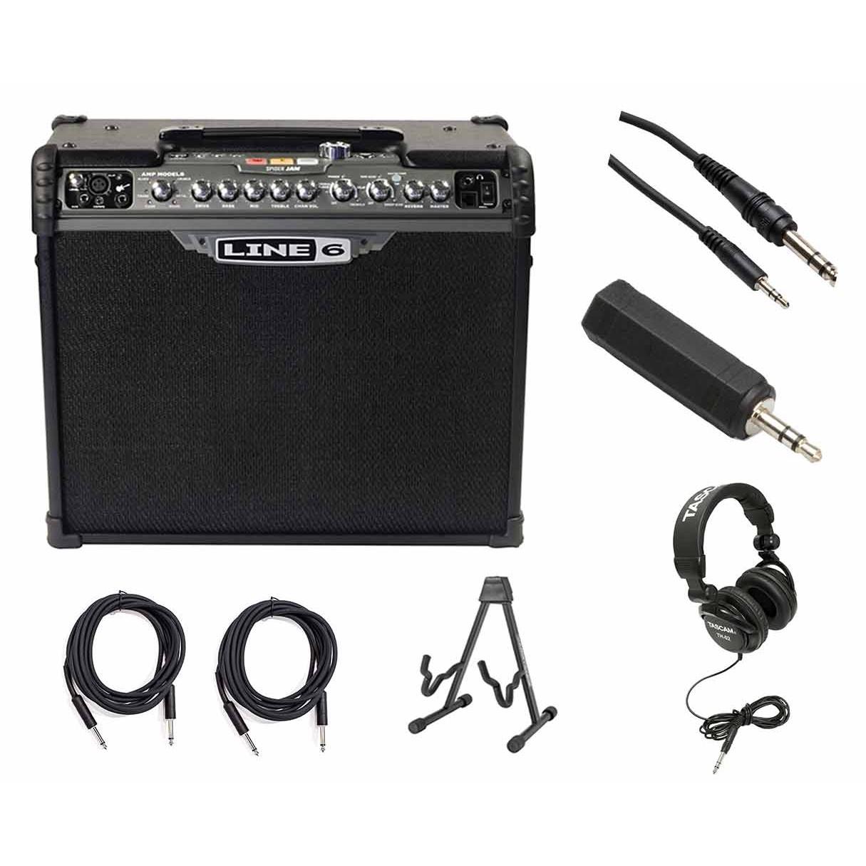 Line 6 Spider JAM 75 Watt Guitar 1X12 Combo Amp Bonus Bundle