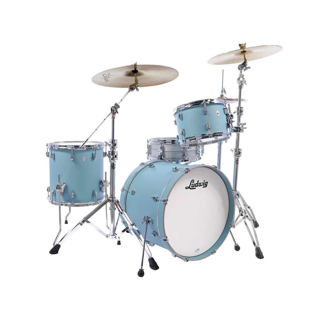 ludwig neusonic drum set skyline blue. Black Bedroom Furniture Sets. Home Design Ideas