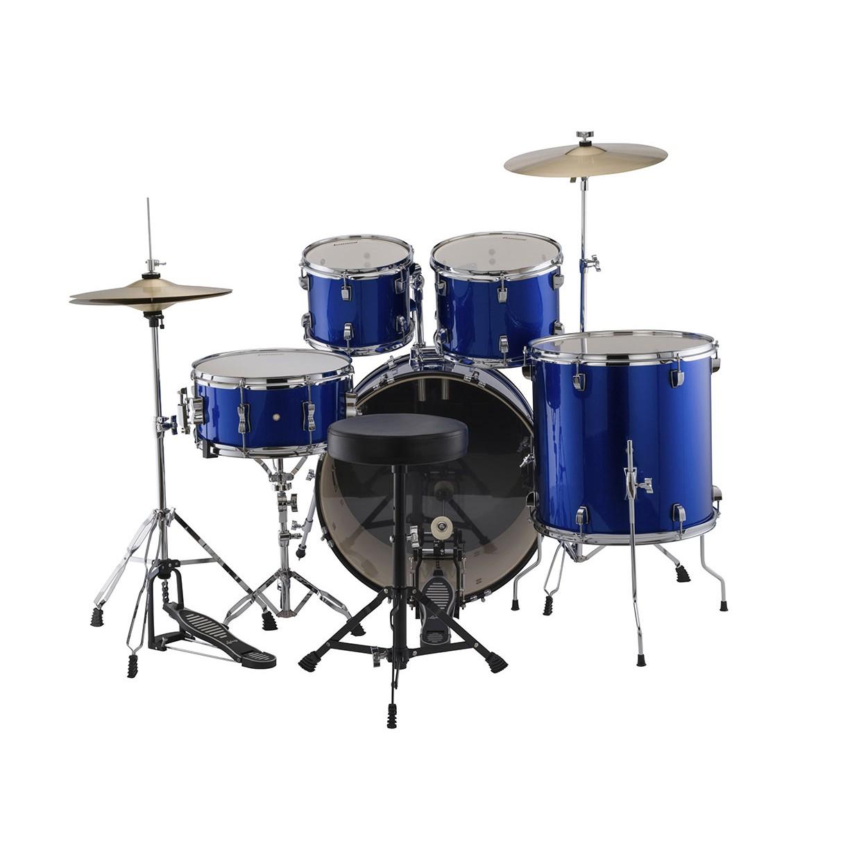 ludwig accent drive 5 piece drum set blue foil. Black Bedroom Furniture Sets. Home Design Ideas