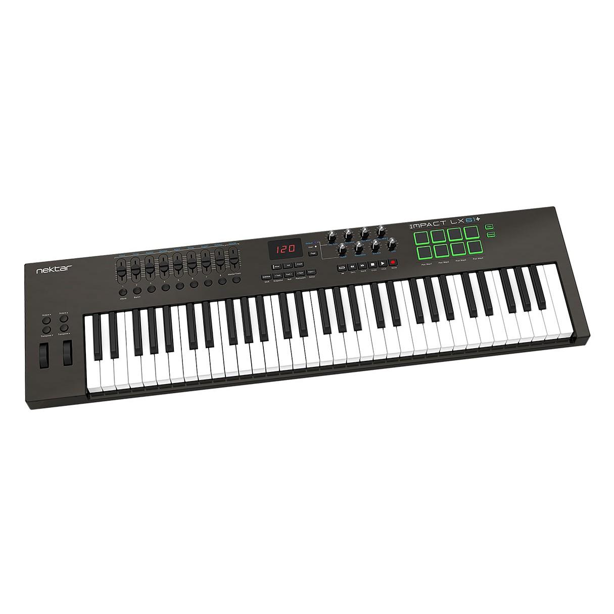 nektar impact lx61 61 key keyboard midi controller with built in daw integration. Black Bedroom Furniture Sets. Home Design Ideas