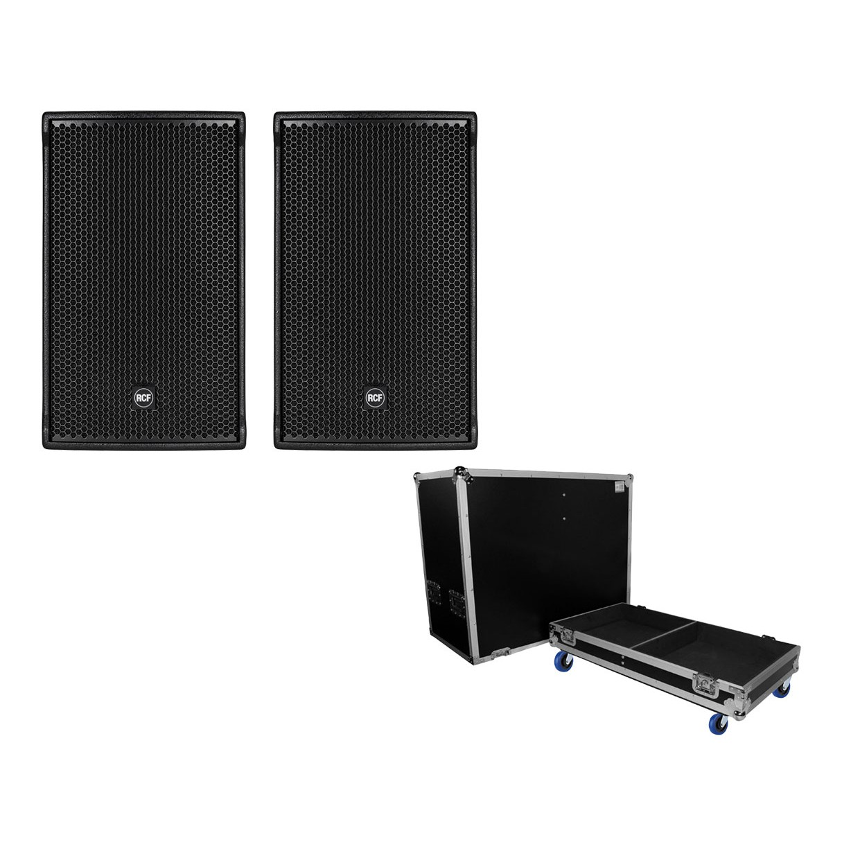 2x RCF NX 32-A + ProX Case for 2 Speakers