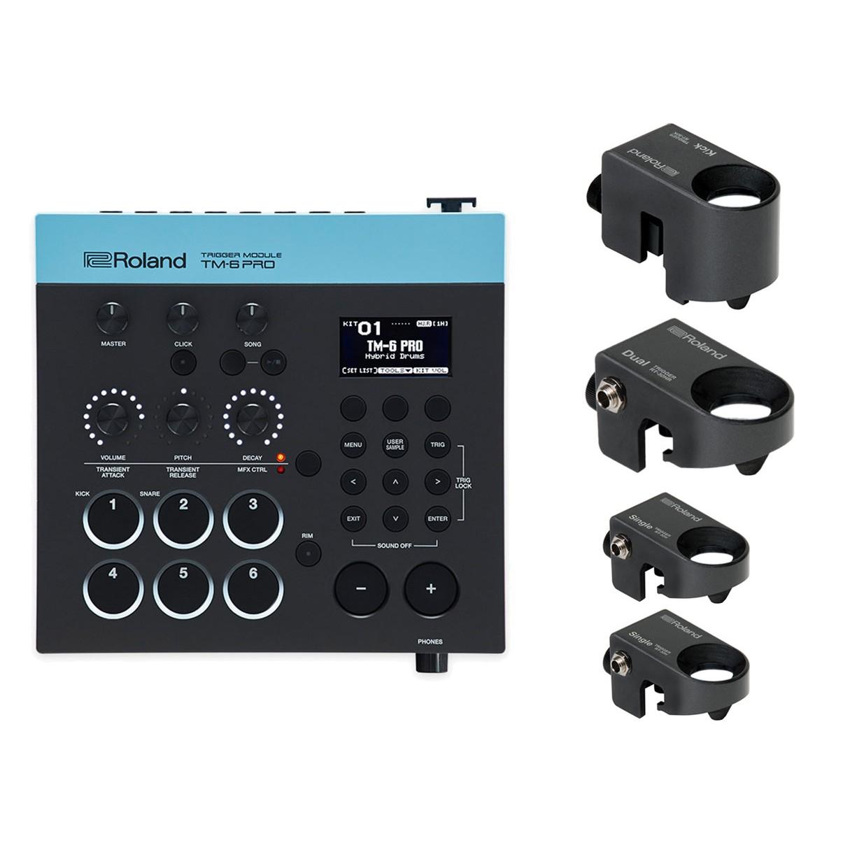 roland tm 6 pro drum trigger module 4x roland rt30 drum triggers. Black Bedroom Furniture Sets. Home Design Ideas