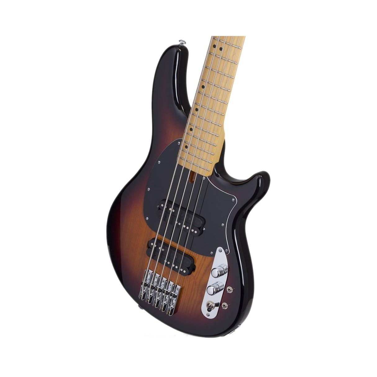 schecter cv 5 5 string bass guitar 3 tone sunburst. Black Bedroom Furniture Sets. Home Design Ideas