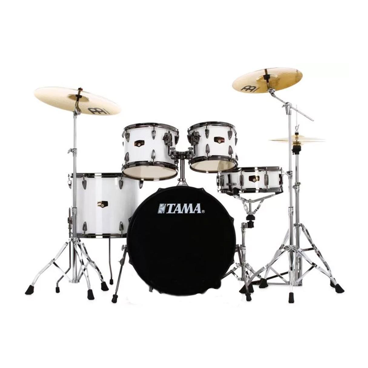 tama imperialstar 5 piece complete drum kit sugar white. Black Bedroom Furniture Sets. Home Design Ideas