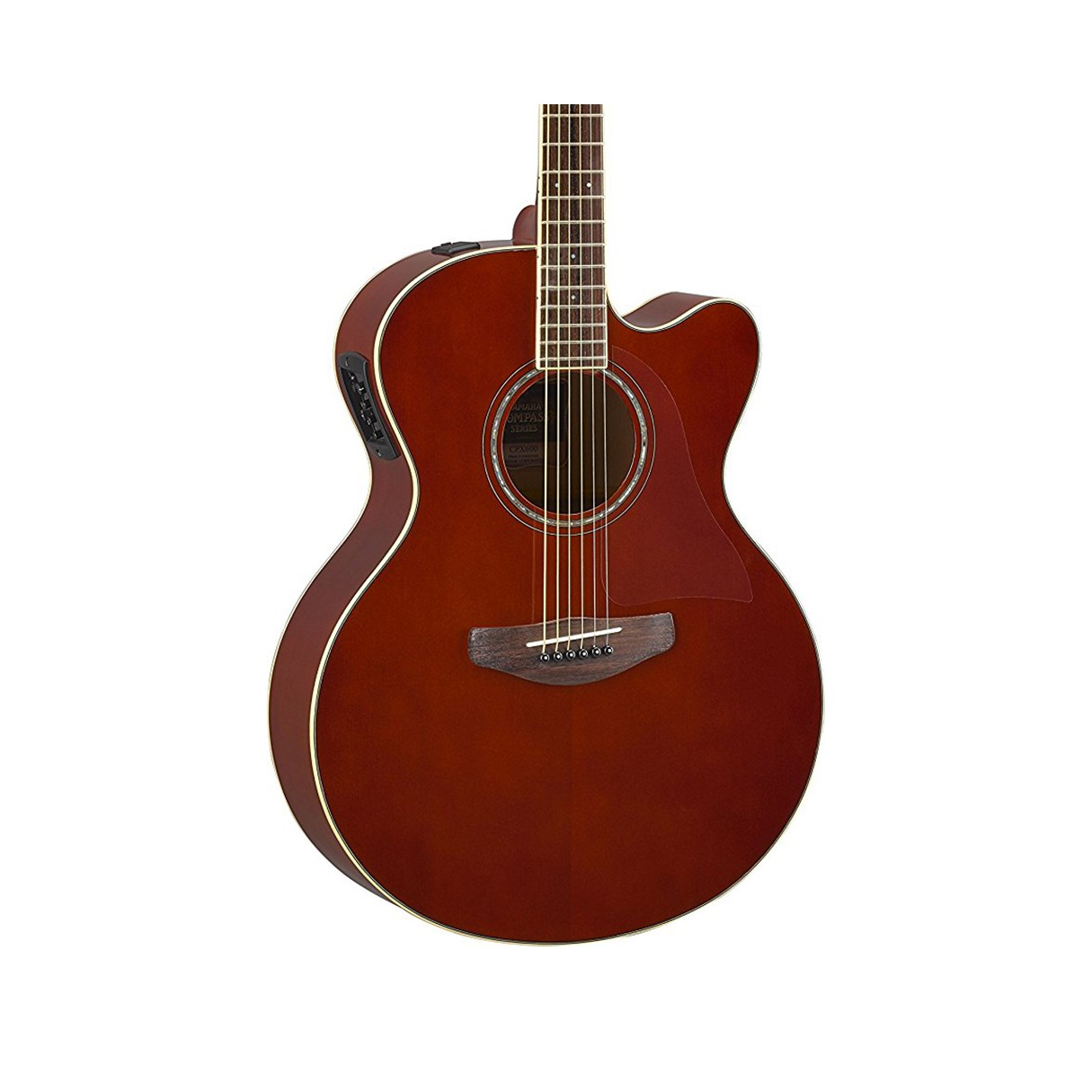 yamaha cpx600 root beer medium jumbo cutaway acoustic electric guitar. Black Bedroom Furniture Sets. Home Design Ideas