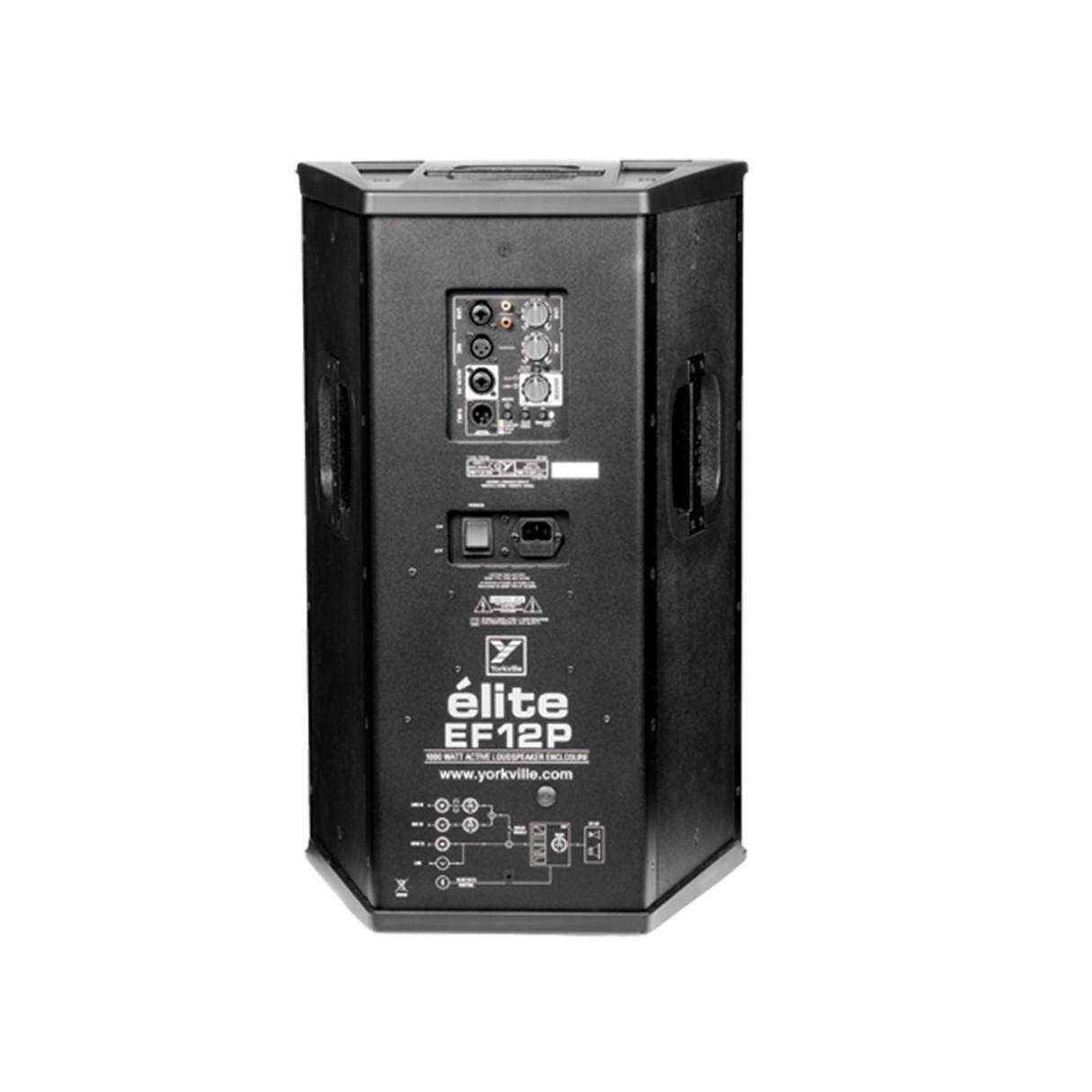 yorkville ef12p elite 12 1200 watt active loudspeaker. Black Bedroom Furniture Sets. Home Design Ideas