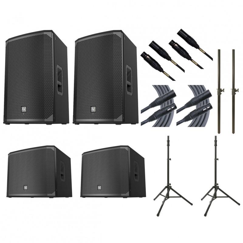 2x electro voice ekx 15p 2x ev exk 18sp 2x ultimate ts 100b mogami cables poles. Black Bedroom Furniture Sets. Home Design Ideas