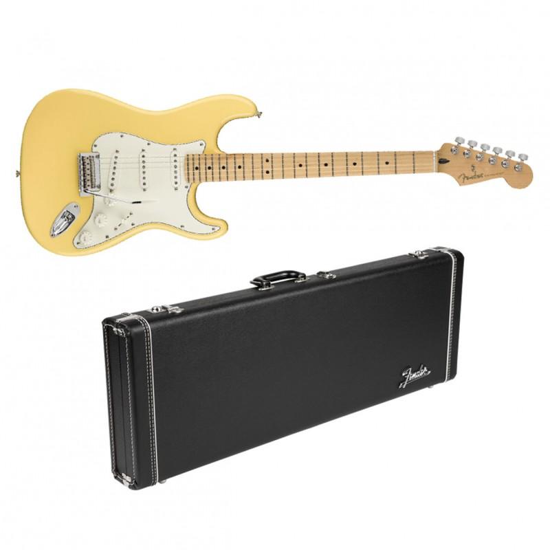 fender player stratocaster buttercream w maple fb fender g g dlx hard case. Black Bedroom Furniture Sets. Home Design Ideas