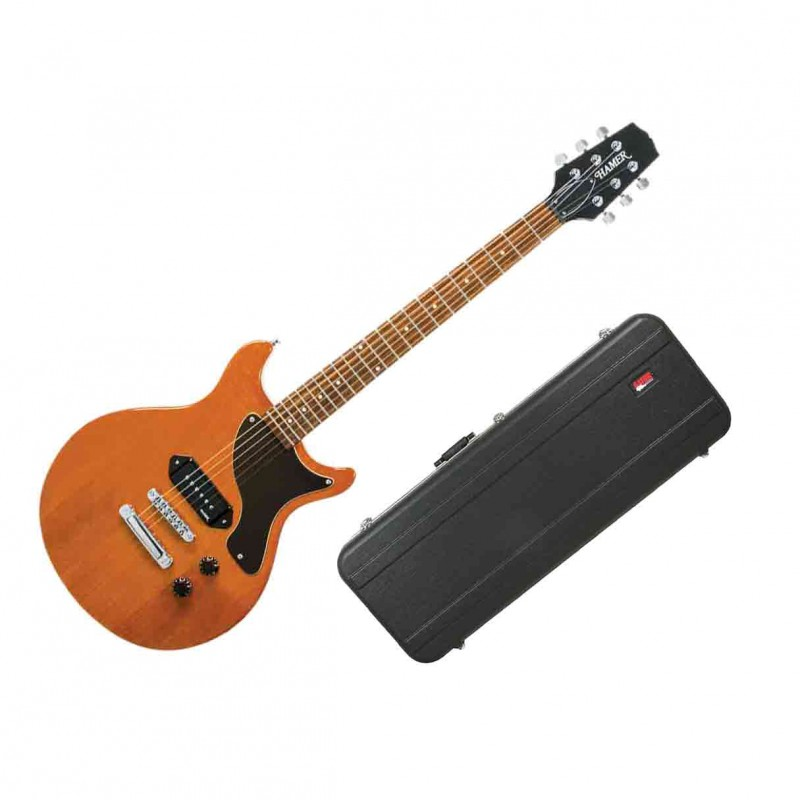hamer special jr electric guitar natural gloss w hard shell case. Black Bedroom Furniture Sets. Home Design Ideas