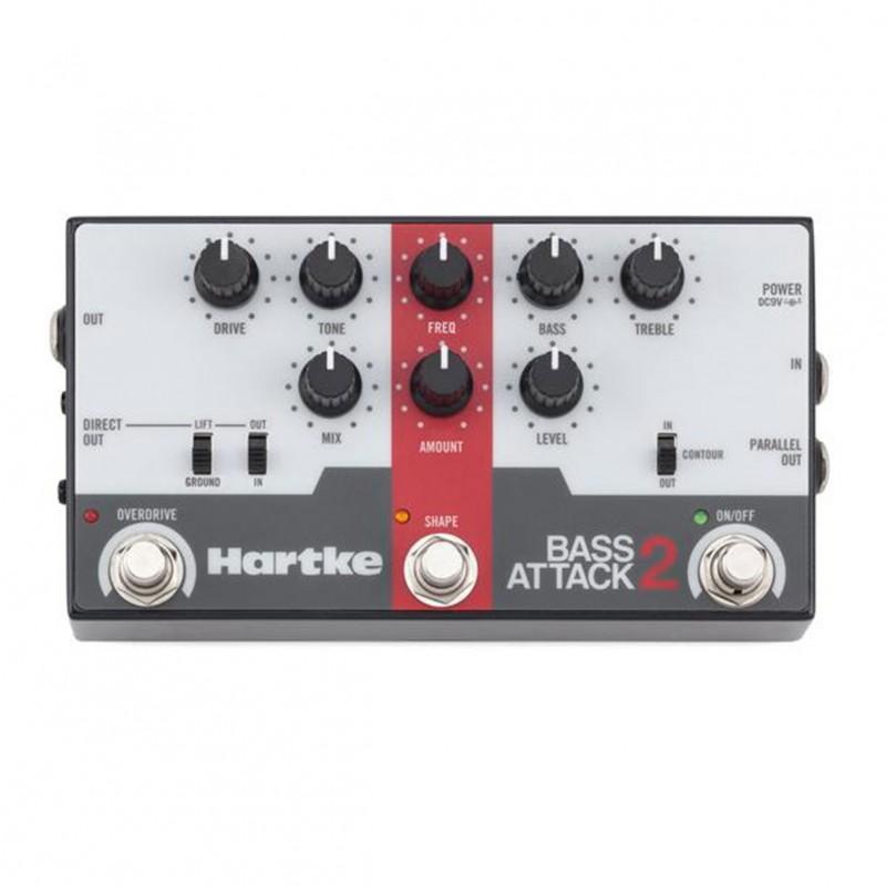 hartke hpba2 bass attack 2 electric bass preamp direct box eq pedal. Black Bedroom Furniture Sets. Home Design Ideas