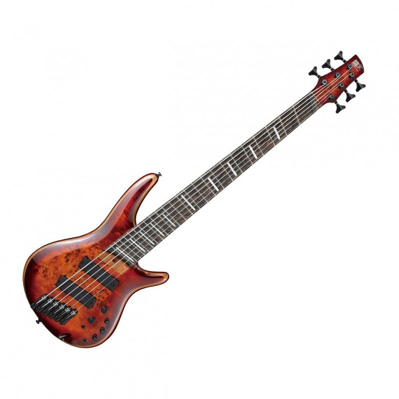 Ibanez SR Bass Workshop 6 String Multiscale Electric Bass - Brown Topaz Burst