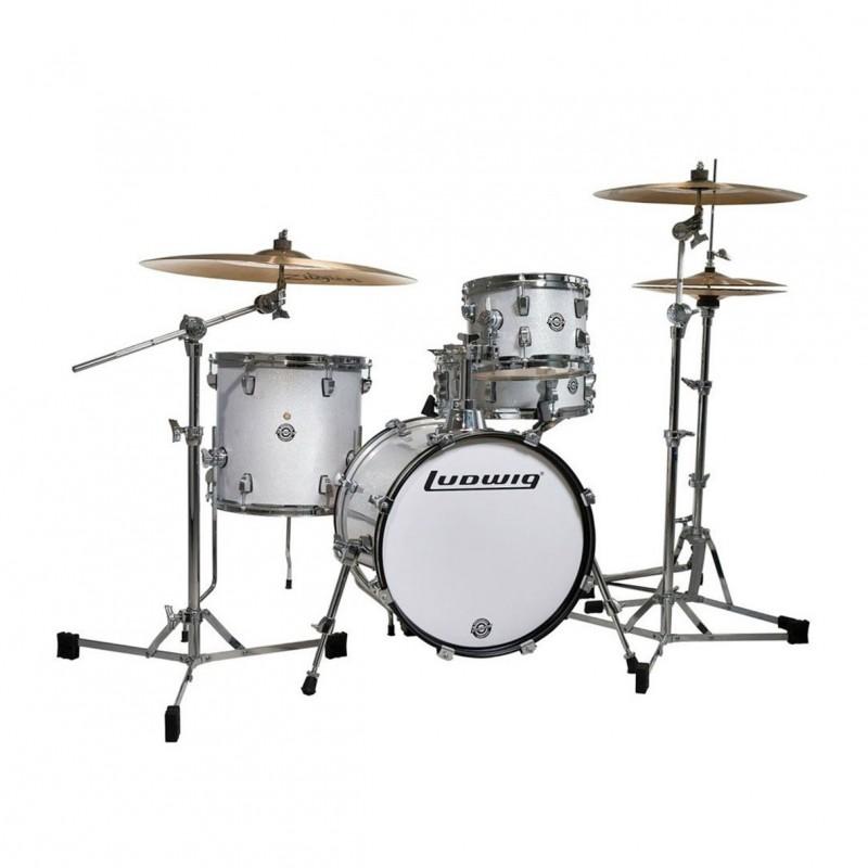 ludwig breakbeats by questlove drum set white sparkle. Black Bedroom Furniture Sets. Home Design Ideas