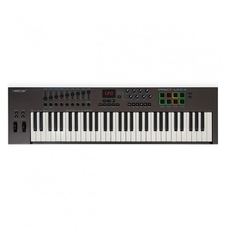 Nektar Impact LX61+ 61 Key Keyboard MIDI controller with built in DAW integration