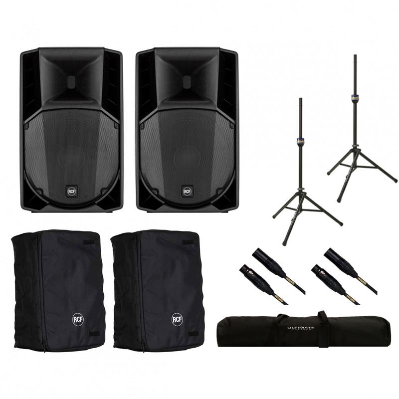 2x RCF ART 710-A MK4 + Covers + Stands + Bag + Mogami Cables