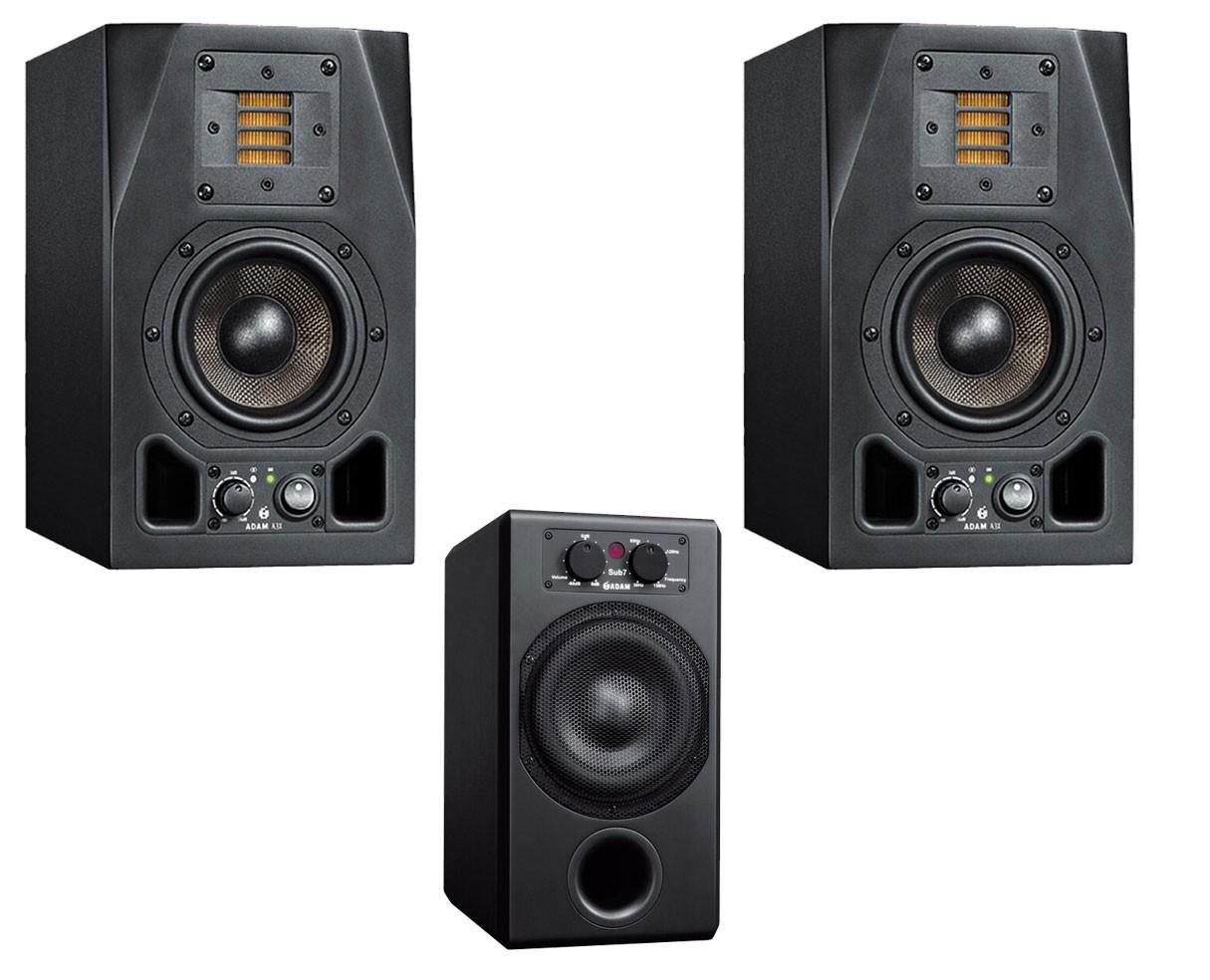 2x ADAM A3X + Sub7 2.1 System