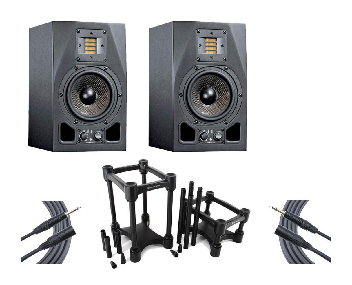 2x ADAM A5X + IsoAcoustics + Mogami Cables