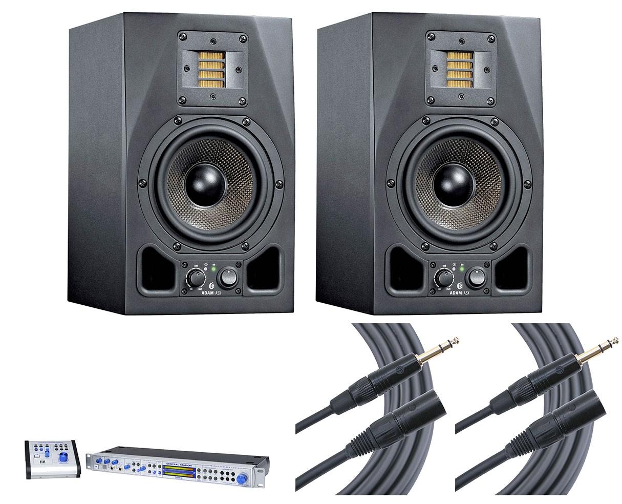 2x ADAM A5X + Central Station PLUS + Mogami Cables