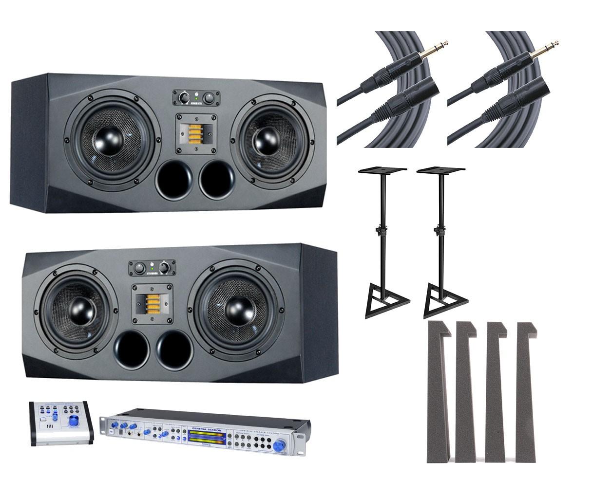 ADAM A77X L/R Pair + Central Station PLUS + Stands + MoPADs + Cables
