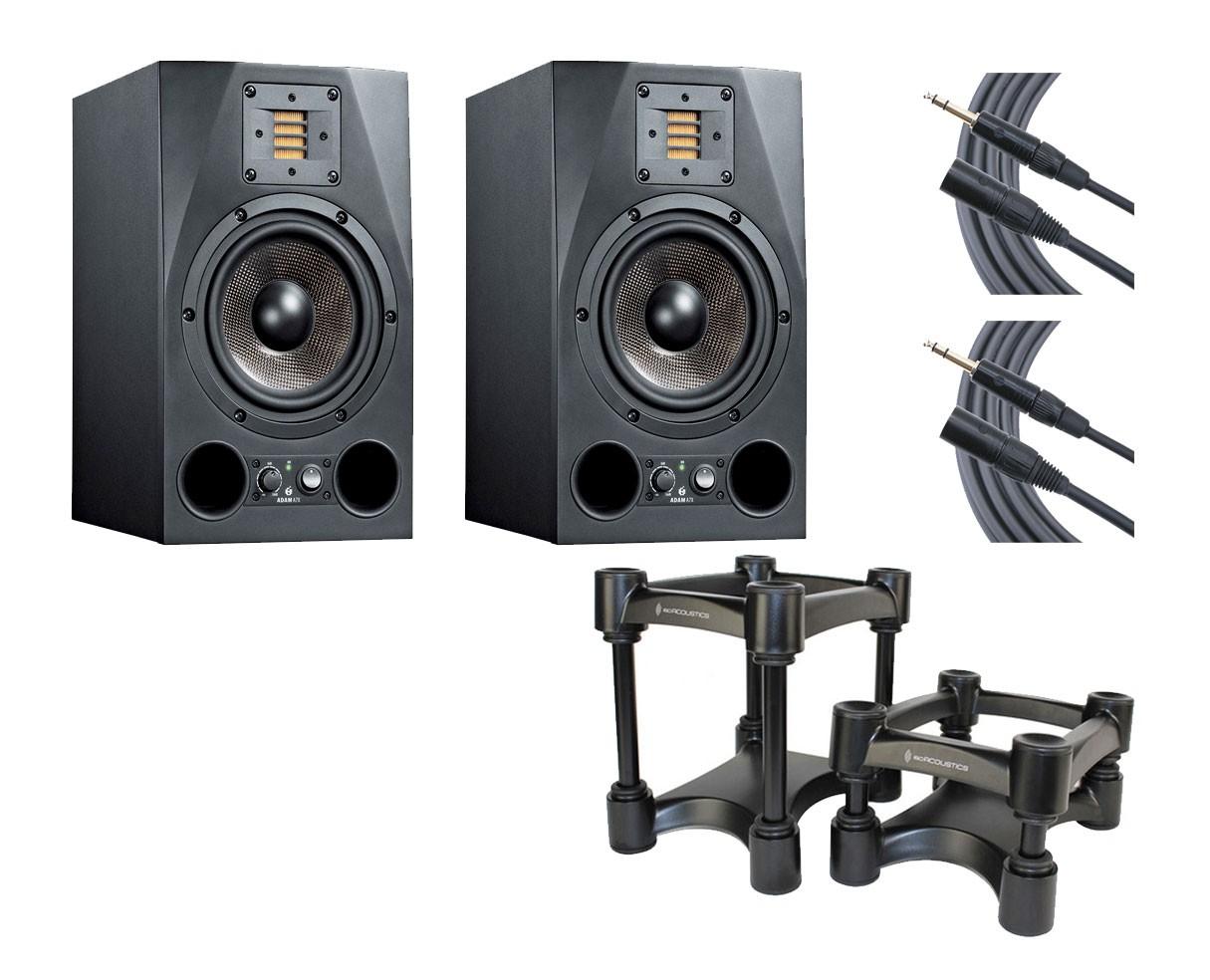 2x ADAM A7X + IsoAcoustics + Mogami Cables