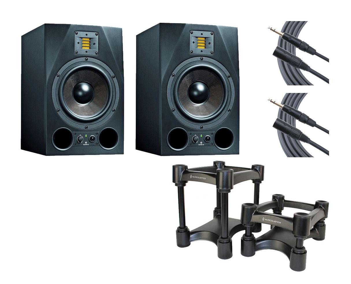 2x ADAM A8X + IsoAcoustics + Mogami Cables