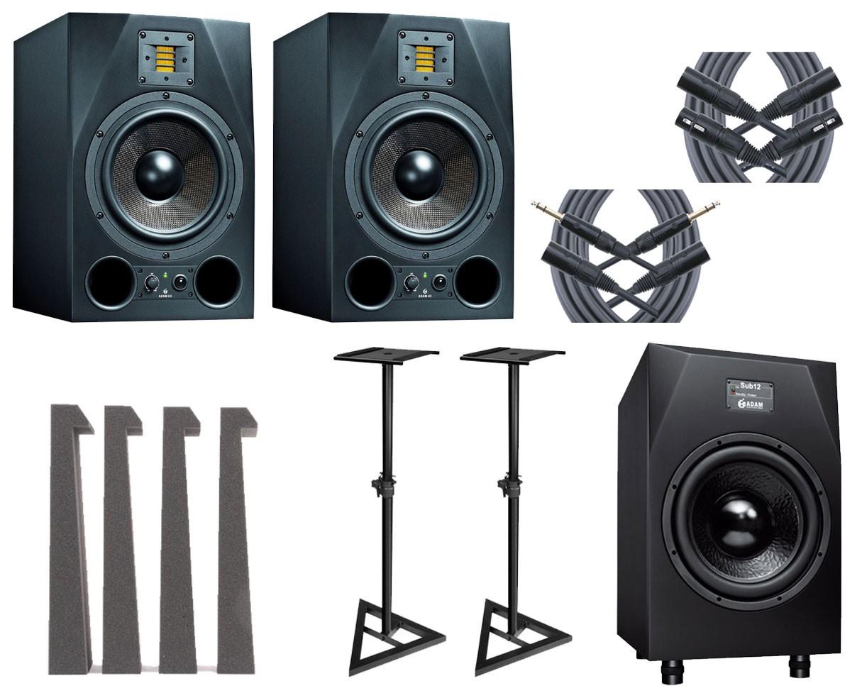 2x ADAM A8X + Sub12 + MoPADs + Stands + Mogami Cables
