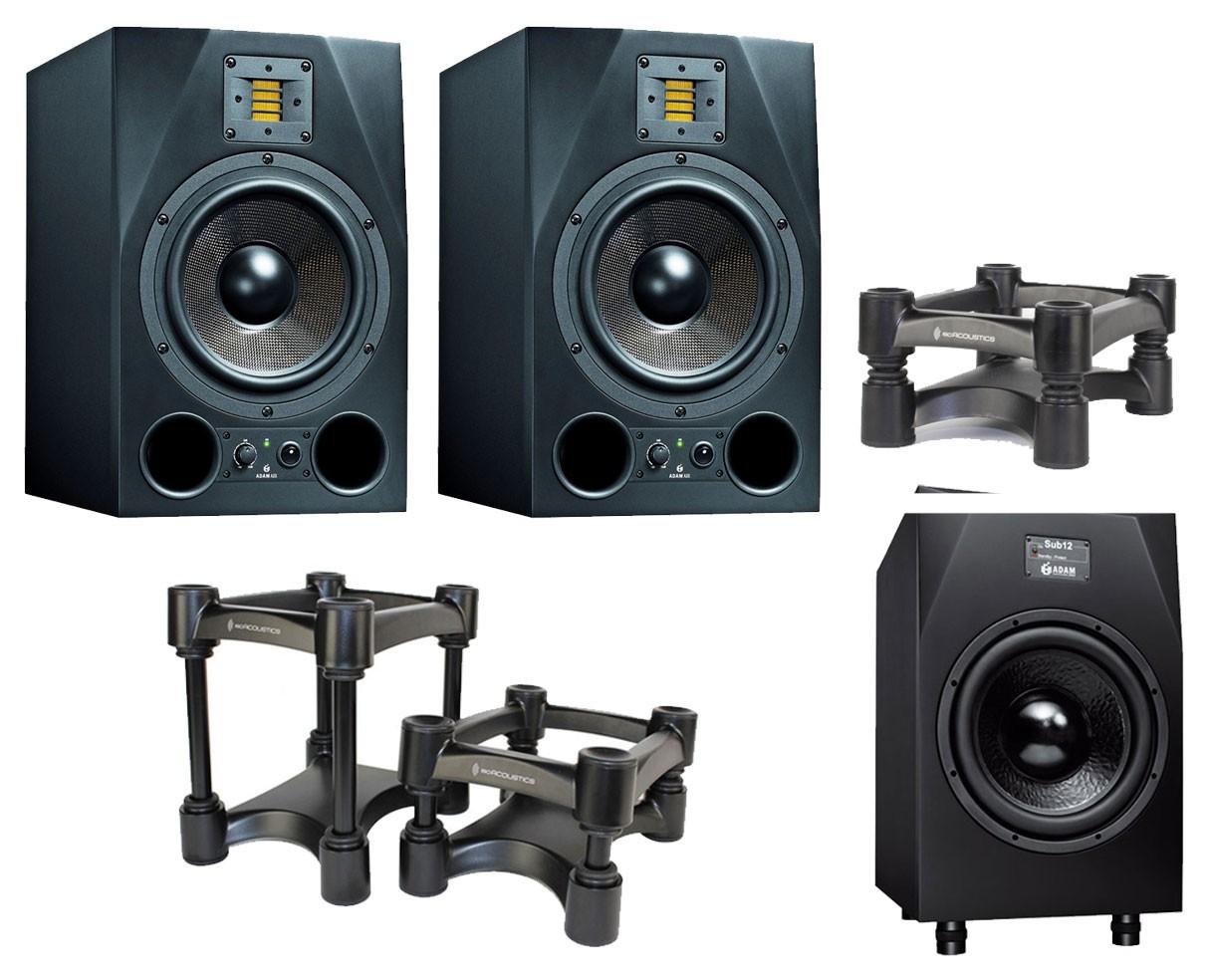 2x ADAM A8X + Sub12 2.1 System + IsoAcoustics