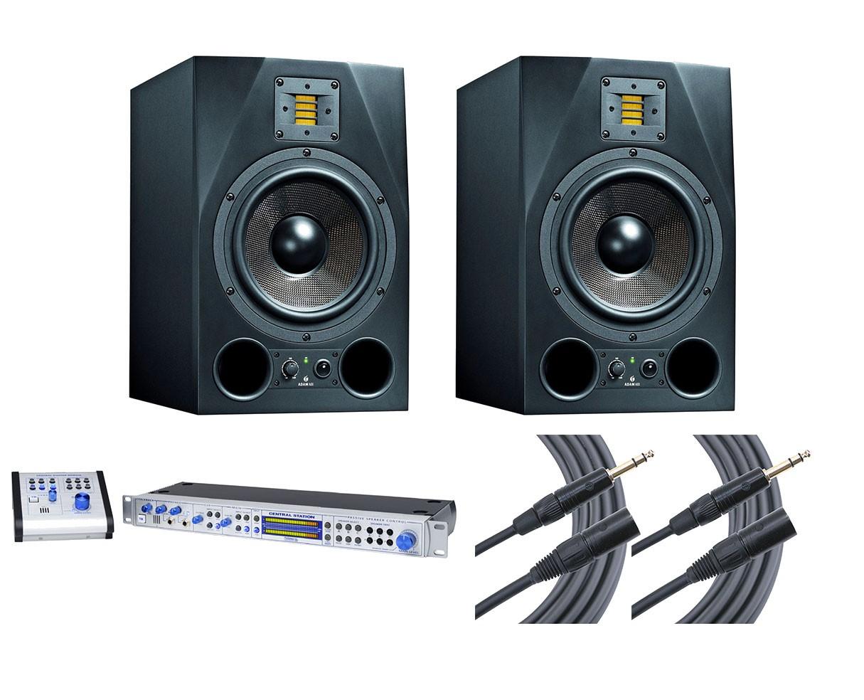 2x ADAM A8X + Central Station PLUS + Mogami Cables