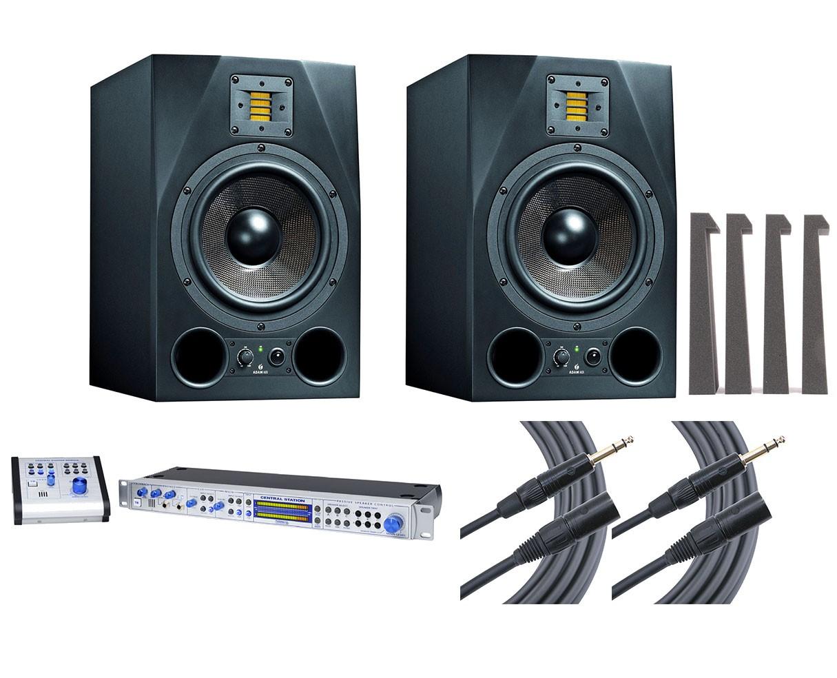 2x ADAM A8X + Central Station PLUS + MoPADs + Mogami Cables