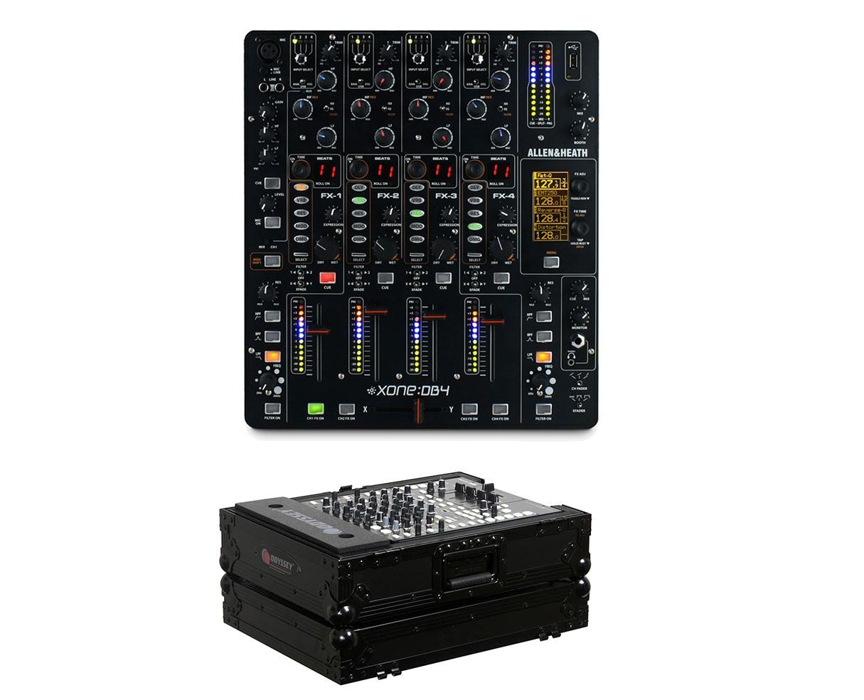 Allen & Heath Xone:DB4 + Odyssey Black Label Case