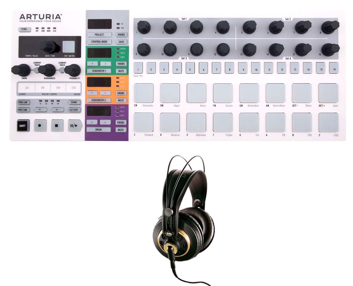 Arturia Beatstep Pro + AKG K 240 Studio