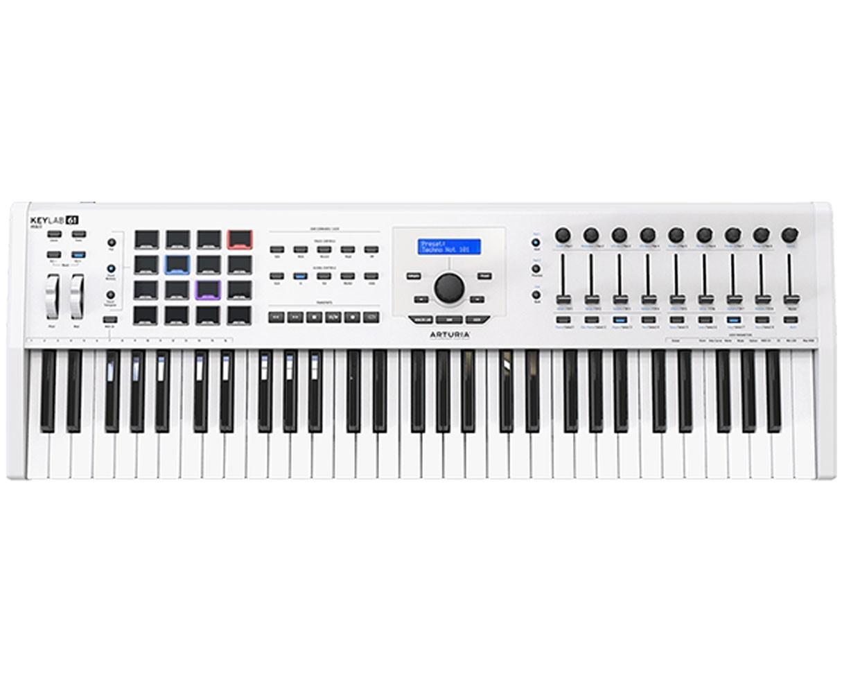 Arturia Keylab 61 MKII White Keyboard Controller