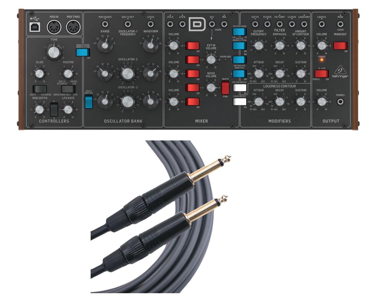 Behringer Model D + Mogami 10' Instrument Cable