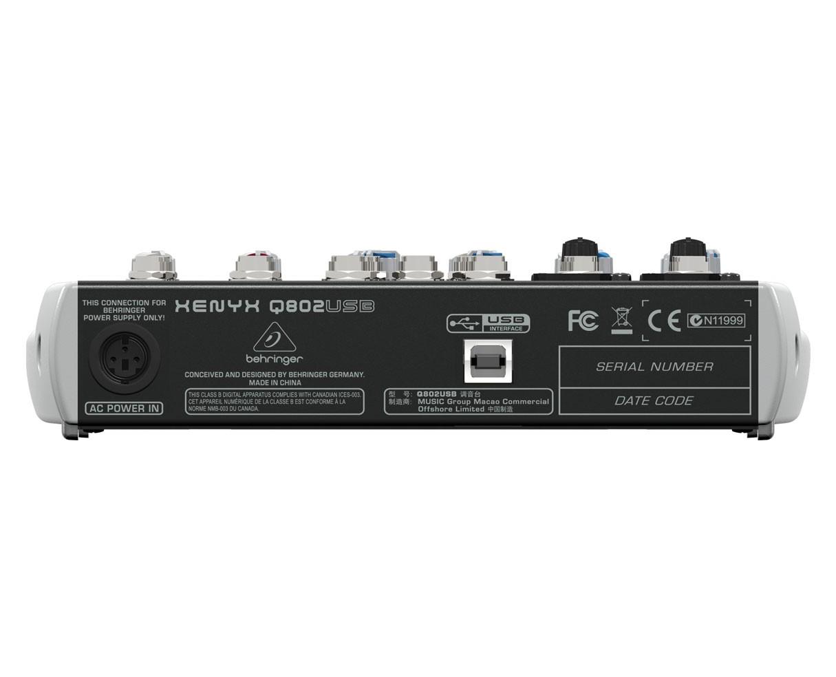 Behringer XENYX Q802USB - Back