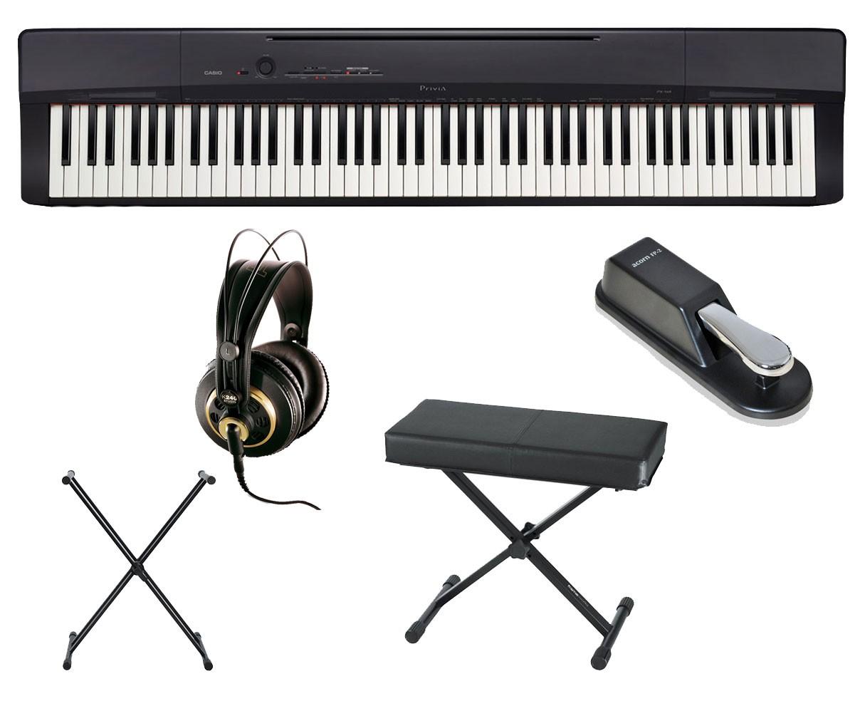 Casio PX-160 + Stand + Bench + AKG K 240 Studio + Sustain Pedal