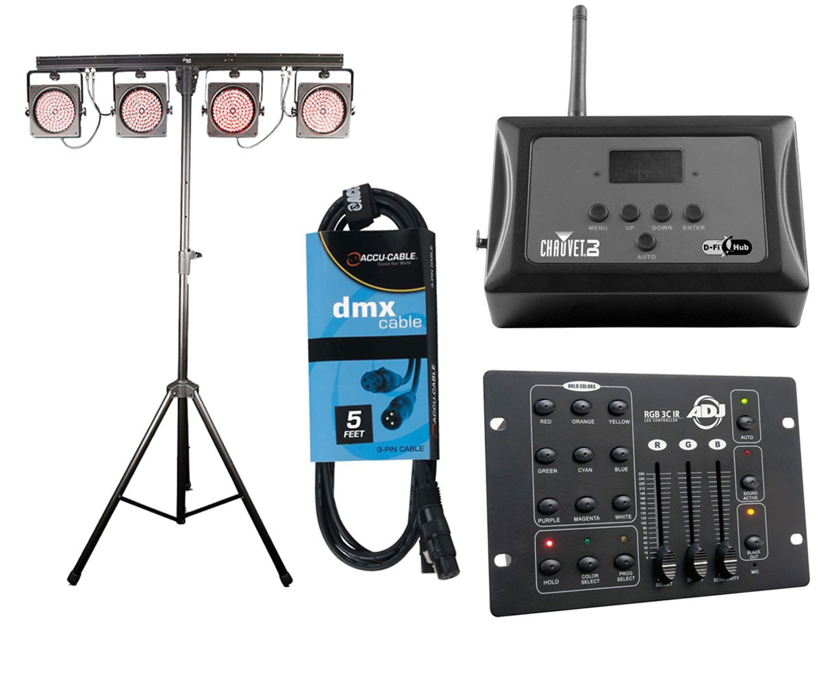CHAUVET DJ 4BAR USB + D-Fi Hub + RGB3C IR + Cable