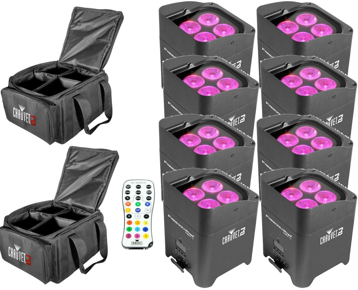 Chauvet DJ Freedom Par Hex-4 Bundle with Cases & Remote